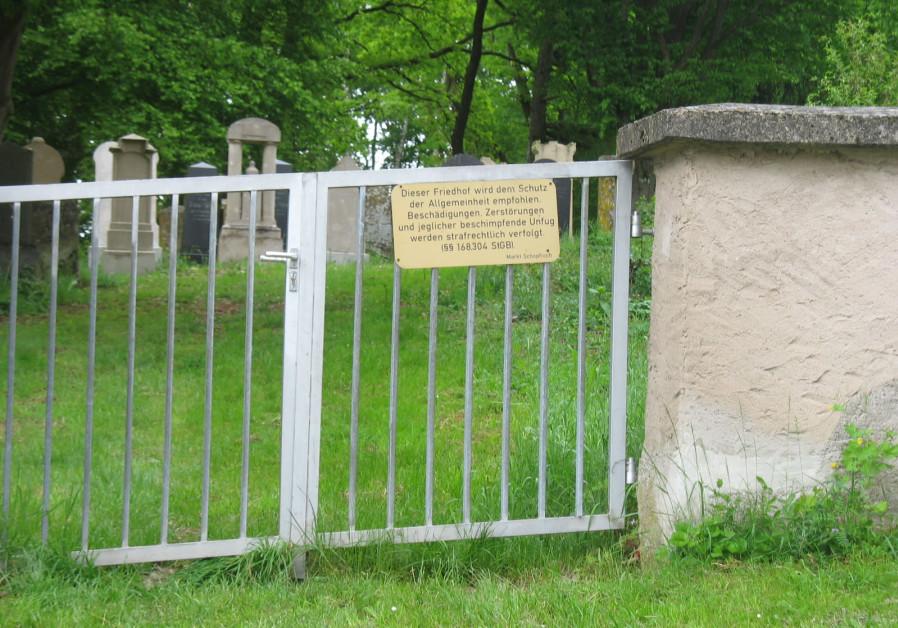 The entrance to the Jewish cemetery in Schopfloch. (Photo credit: Wikipedia)