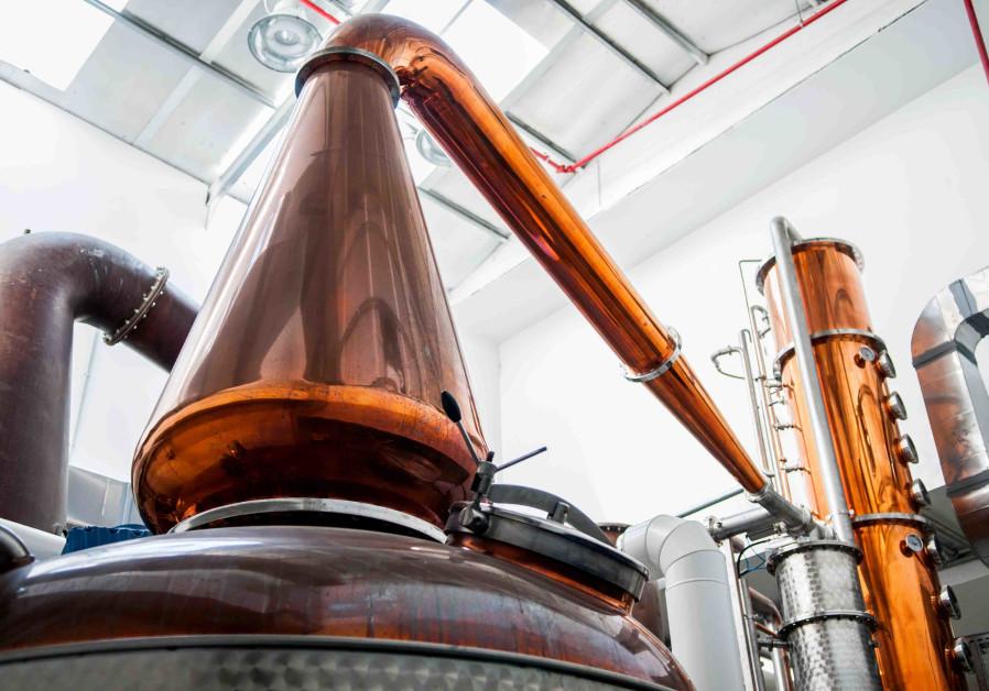 MILK & HONEY'S pot still, used for distilling Israeli whisky. (M&H Distillery)