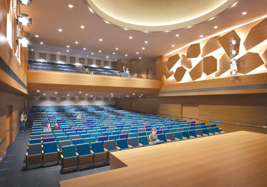 Architectural rendering of Heichal Shlomo auditorium (Vivi Astrinsky Architects, Ra'anana)