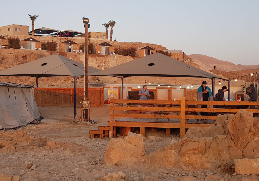 The site of the glamping camp overlooking the Dead Sea. (Photo credit: Courtesy)