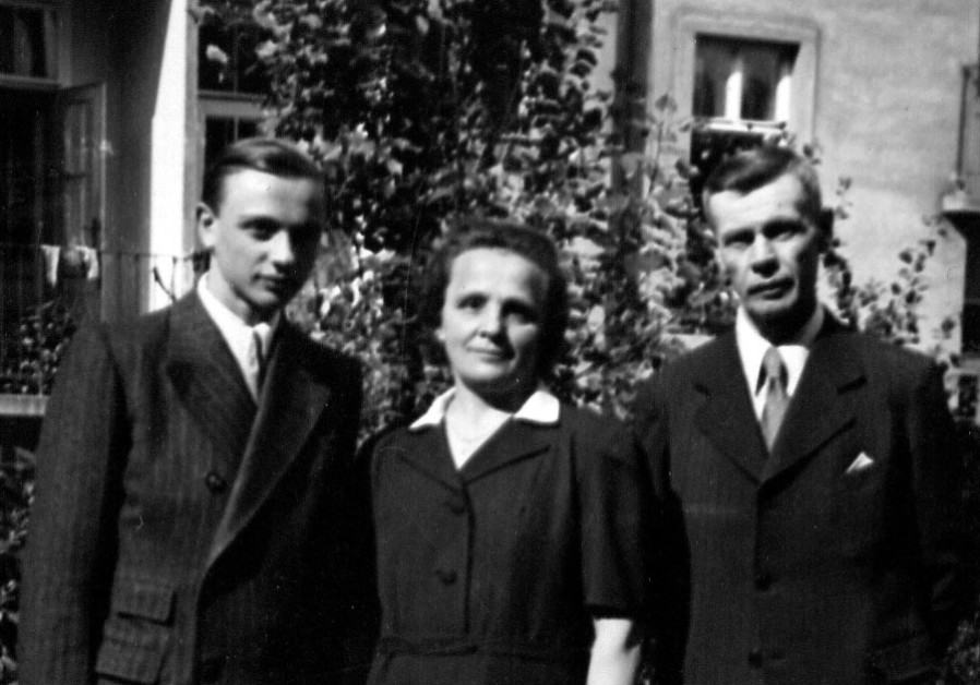 LADA WITH his parents after the war, having survived a serious infection thanks to the penicillin the writer sent him. (Courtesy Charles Ticho)