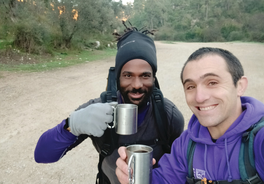 ETTING STARTED early in the cold: David Ben Moshe (left) and Ohad Maayan. (Ohad Maayan)