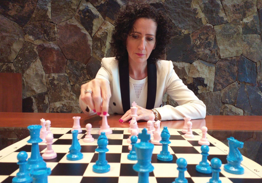 AMBASSADOR TO Chile Marina Rosenberg takes part in a Chess4Solidarity competition. (Chess4Solidarity)
