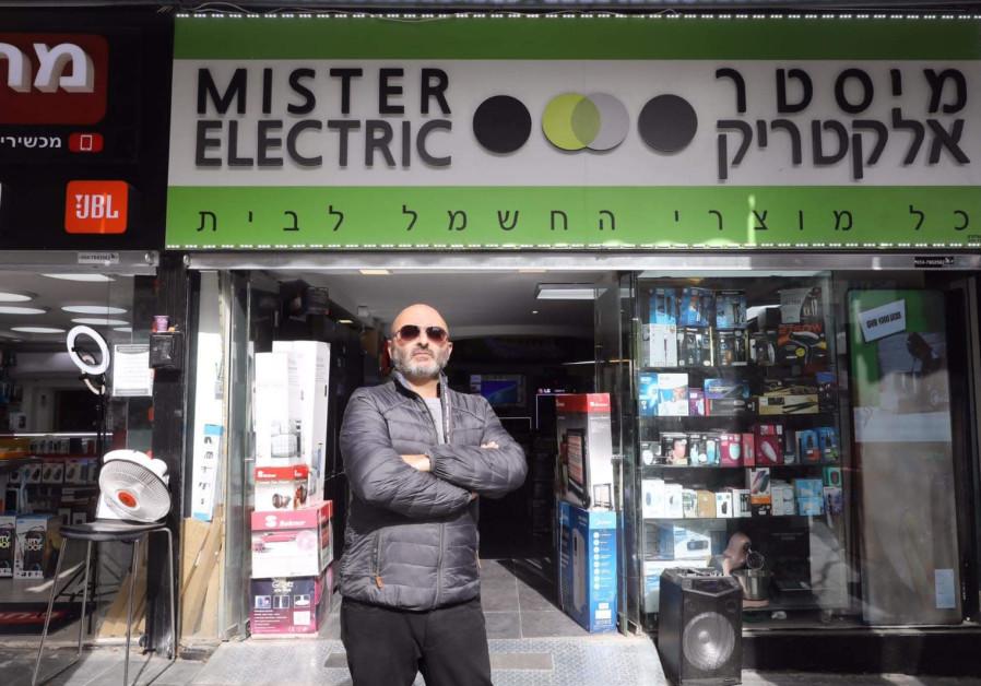 Ilan Ben-Harosh, owner of the Mister Electric shop in the center of Jerusalem