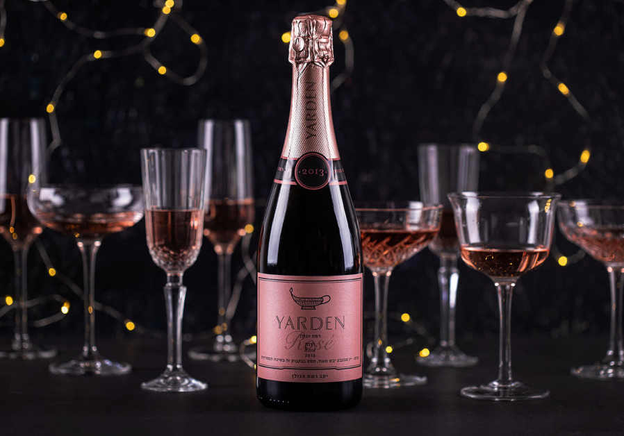 YARDEN BRUT Rose. A sparkling rosé made in the traditional method; a classic option.  (Golan Heights Winery)