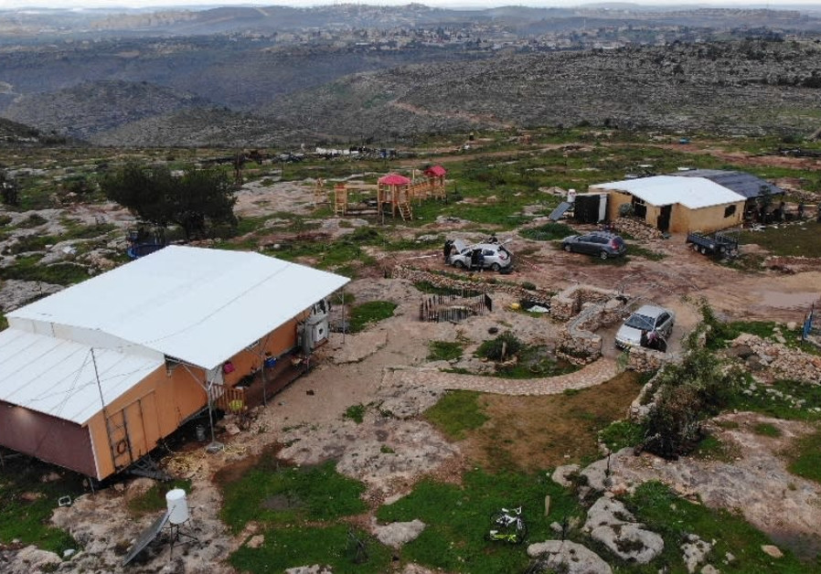 "The ""Sde Ephraim"" farm in the Binyamin regional area in the West Bank, where a Palestinian terrorist infiltrated and attempted an attack on Thurdsday night, February 5, 2021. (Credit: IDF SPOKESPERSON'S UNIT)"