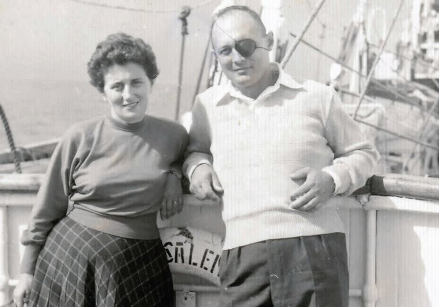 Ruth Dayan and Moshe Dayan. (Credit: RA'ANAN COHEN)