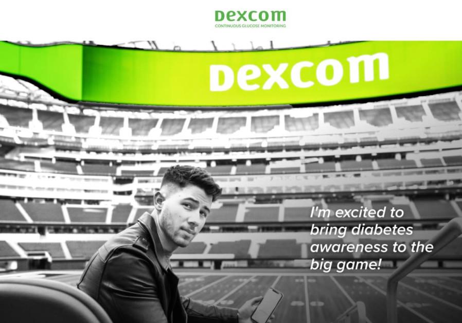 Kampanye Dexcom Super Bowl menampilkan penyanyi Nick Jonas. (Kredit: DEXCOMGAMEDAY.COM)