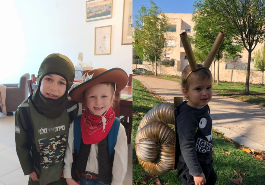 The writer's great nephews dressed up for the Purim holiday. (Photo credit: Robert Hershowitz)