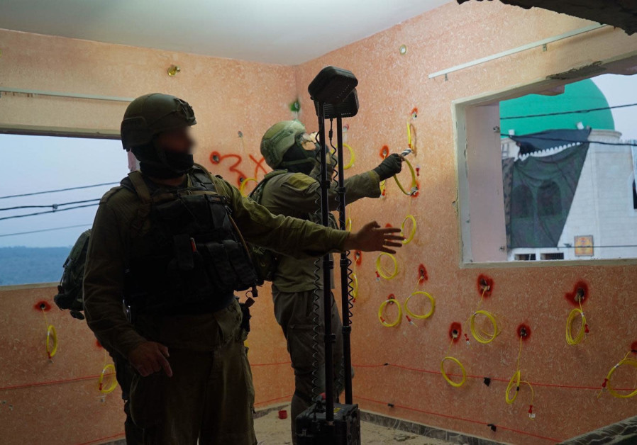 IDF preparing to demolish parts of the home of the terrorist who murdered Esther Horgen, February 10 2021. (Credit: IDF SPOKESPERSON'S UNIT)
