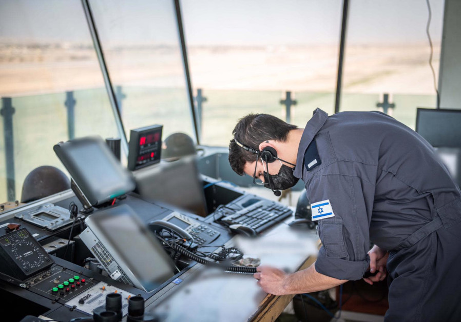 An IAF technician is seen amid the Vered Hagalil drill. (Photo credit: IDF Spokesperson's Unit)