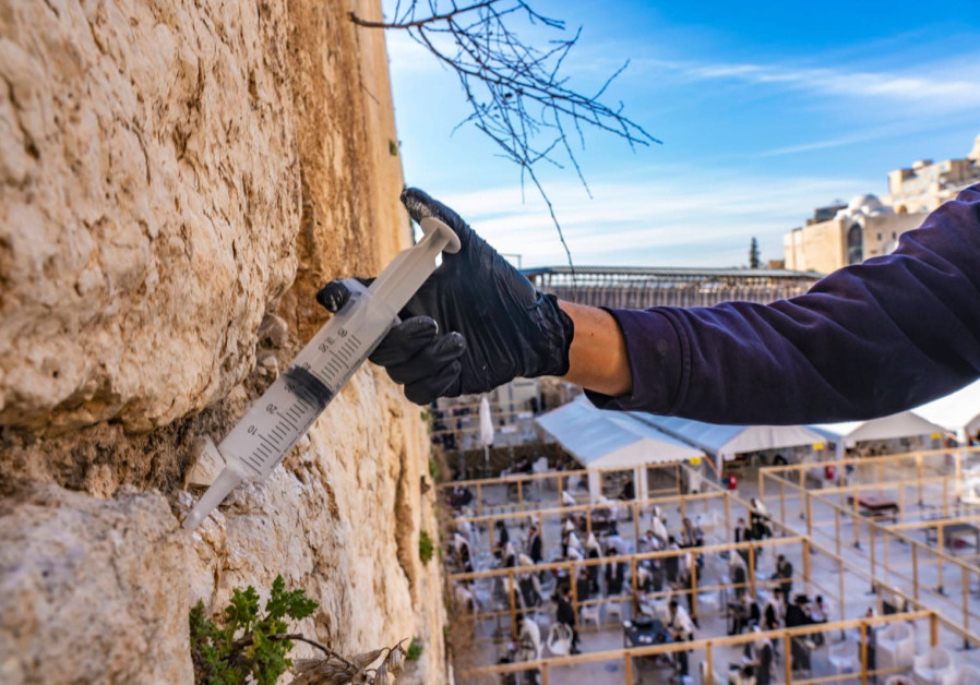 """The Wall's stones are subject to natural weathering and we are making sure to strengthen them,"" (Yaniv Berman/IAA)"