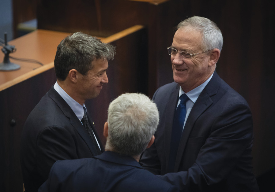 WITH BLUE and White leader Benny Gantz in the Knesset, May 2019. (Noam Revkin Fenton/Flash90)
