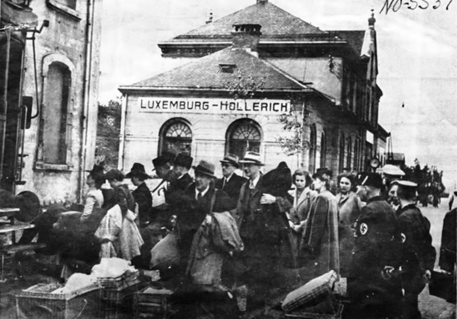DEPORTATION OF Jews from Hollerich, Luxembourg, by local police, 1942. (eurojewcong)