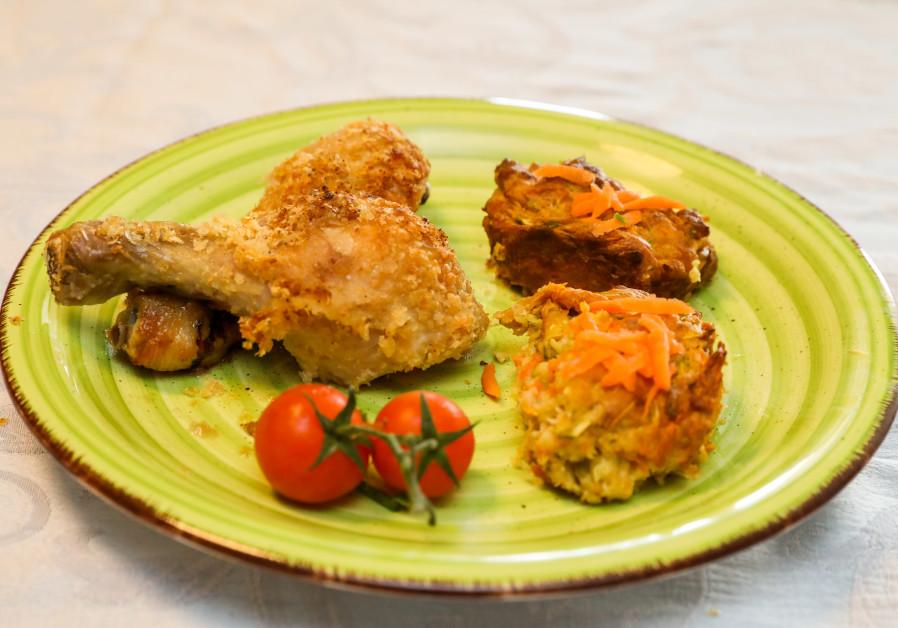 Potato-flake chicken