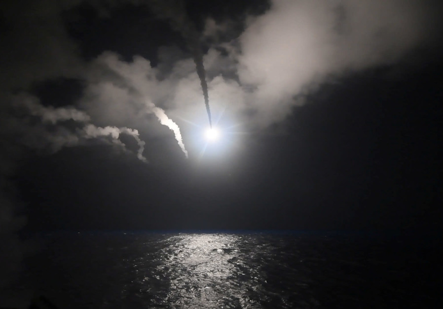 US Navy guided-missile destroyer USS Porter (DDG 78) conducts strike operations while in the Mediterranean Sea which US Defense Department said was a part of cruise missile strike against Syria on April 7, 2017. (Credit: FORD WILLIAMS/COURTESY US NAVY/HANDOUT VIA REUTERS)