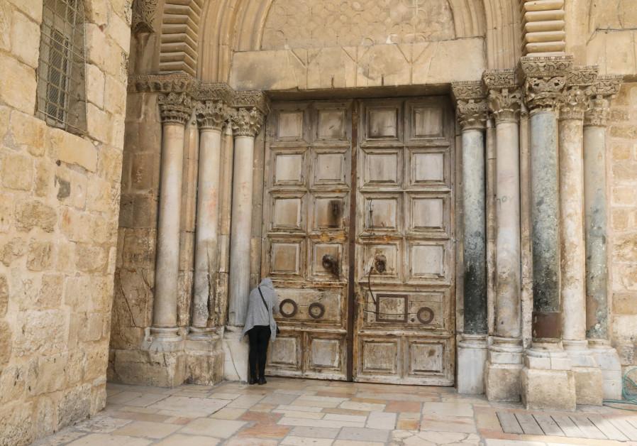 INSIDE THE Christian Quarter, silence hangs heavy. (Photo credit: Marc Israel Sellem/The Jerusalem Post)