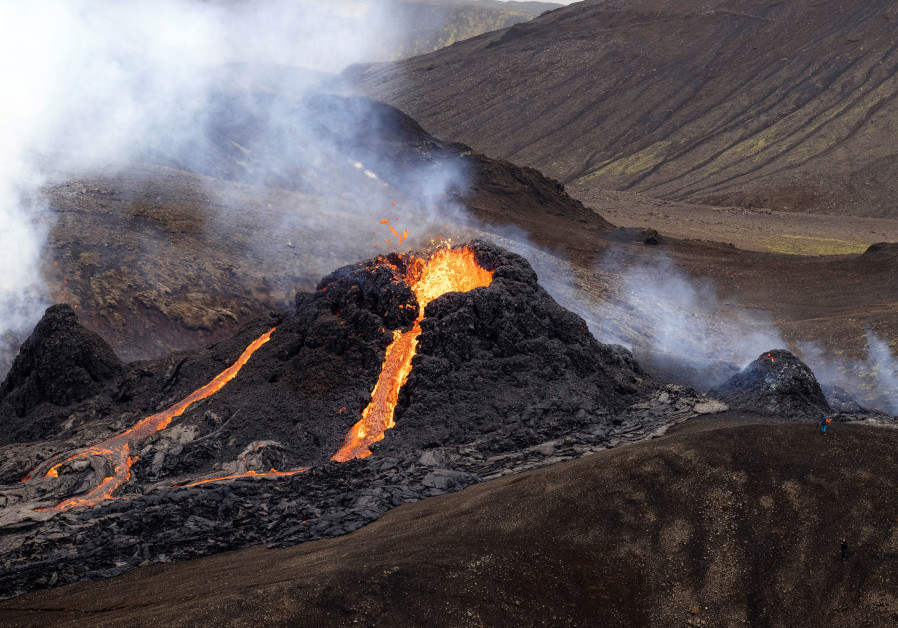 Volcano has erupted in Iceland near Reykjavik. (Credit: Reuters)