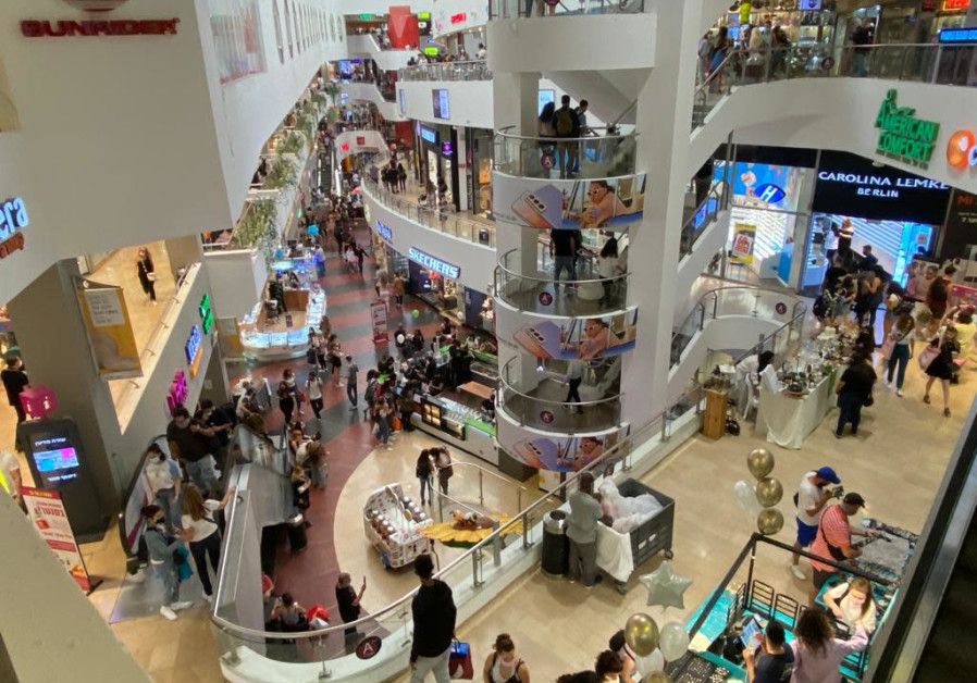 Dizengoff Mall on Election Day, March, 2021
