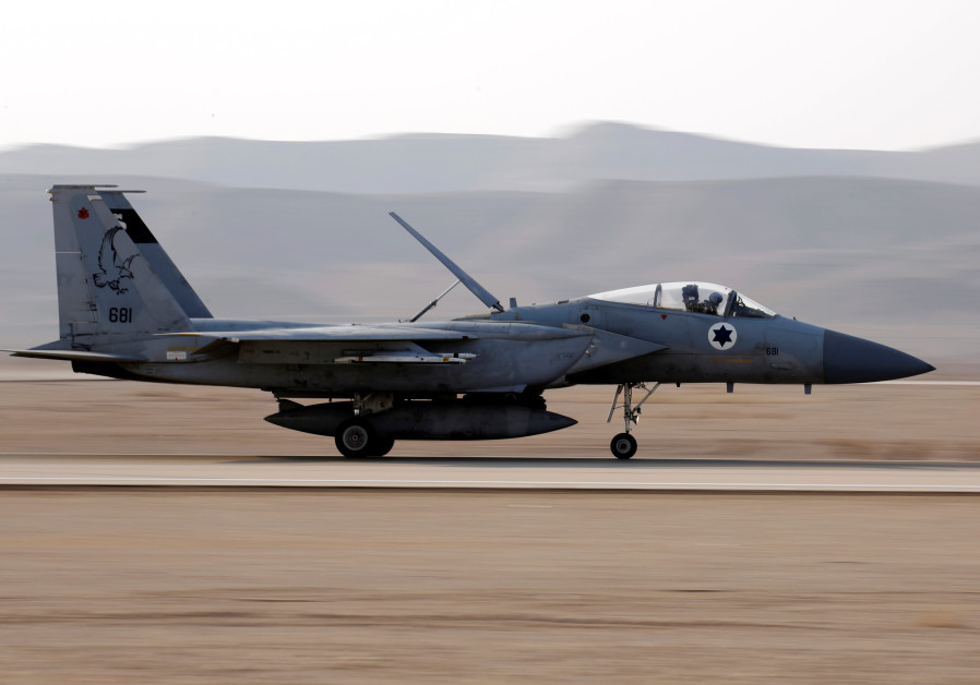 AN ISRAELI F-15 fighter jet prepares to take off from a base in the South. F-15s are regularly used in 'roof knocking' operations. (Photo Credit: Reuters)