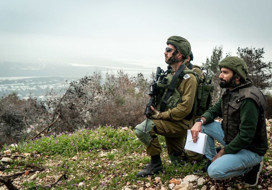 CAPT. GAL TABAC (left) and the writer in the enclave. (Photo credit: IDF's Spokesperson's Unit)