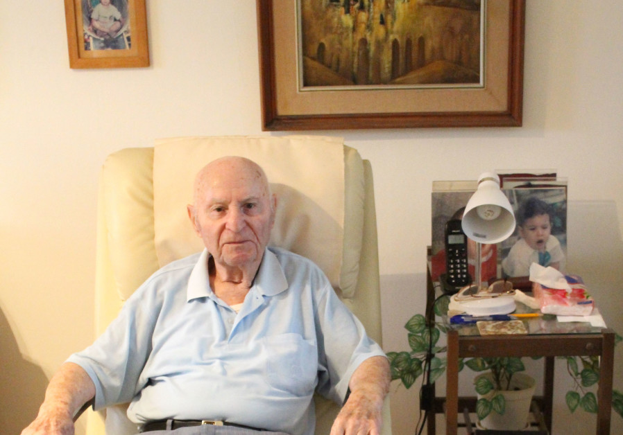 Eliezer Smilovits at his home in Israel before he passed away in 2019. (Photo credit: Courtesy Smilovits and Yoaz families)