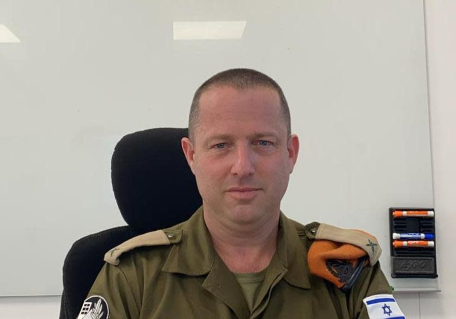 Brig.-Col. Reli Margalit, the head of the Alon Command Center. (Credit: IDF)