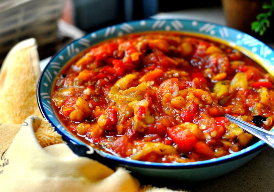 Pascale's roasted pepper salad (Photo Credit: PASCALE PEREZ-RUBIN)