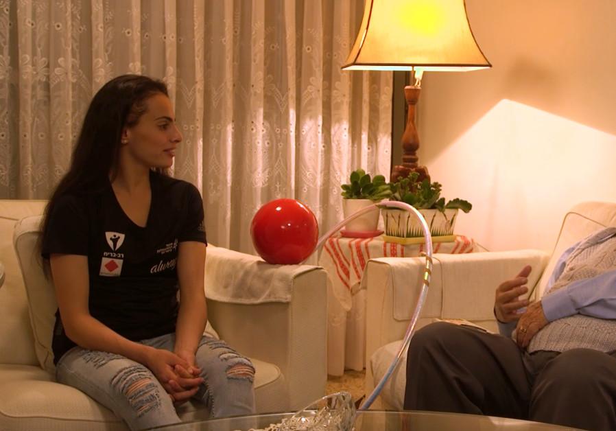Linoy Ashram, 2020  European Champion in Rhythmic Gymnastics, interviews Olympian Henry Herscovici (March of the Living)