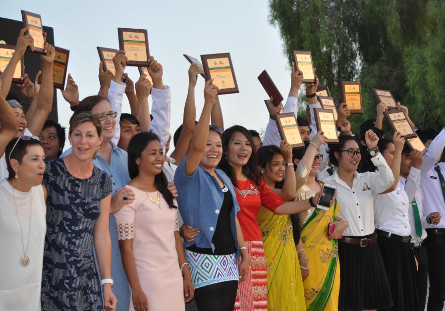 AICAT students celebrate their achievements. (Photo credit: JNF-USA)