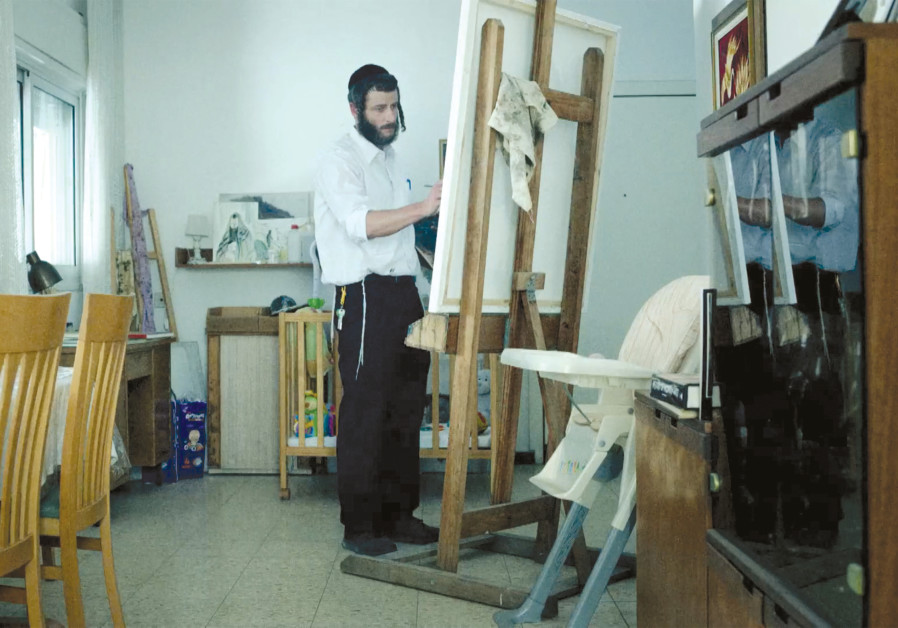 LONELY MAN of art: Akiva's unusual talents don't always allow him to fit in with his fellow haredim. (Yes Studio)