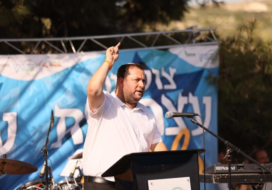 Samaria Regional Council head Yossi Dagan at Sa-Nur, April 15, 2021. (Credit: ELICHAI MENACHEM)