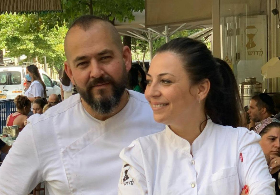 Owners of Cafe Kadosh and pastry chefs Keren and Itzik Kadosh. (Photo Credit: Ron Yarkoni Public Relations)