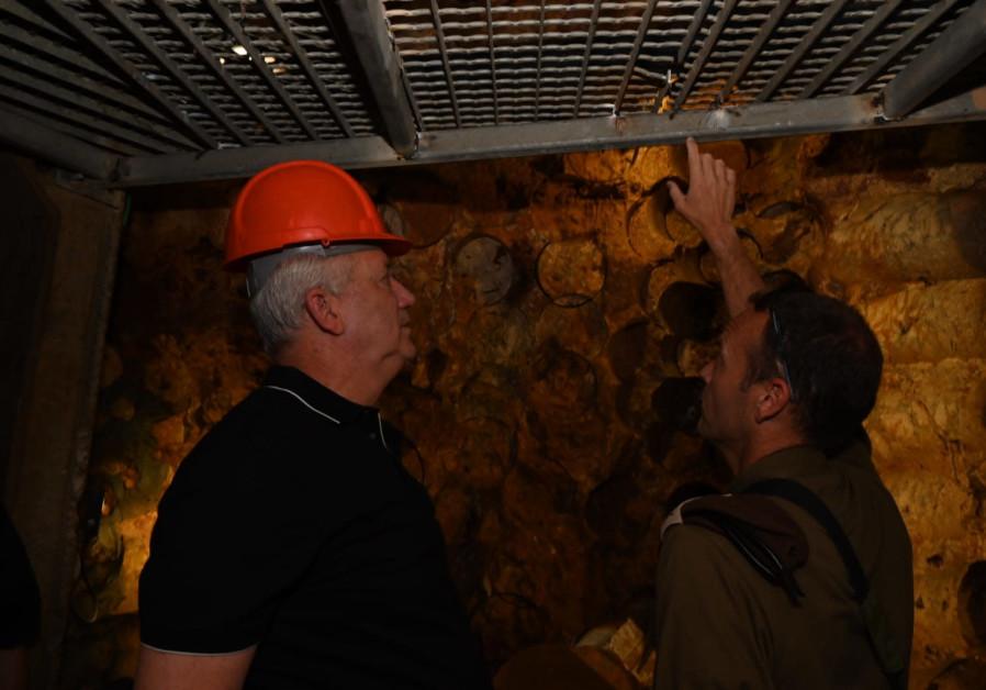 The underground tunnel dug by Hezbollah (photo credit: Ariel Hermoni/ Defense Ministry).