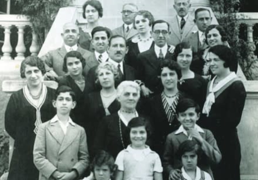 Members of the Sassoon family from Cairo and Aleppo (Family Portrait), 1930s. (Photo credit: Sabah Studios in Cairo)