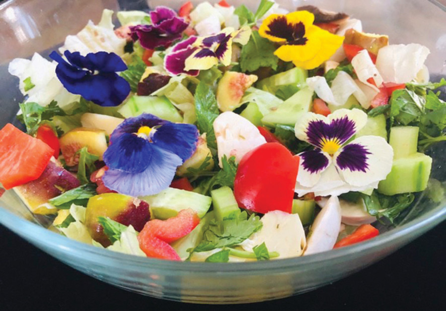 RAINBOW SUMMER salad – pretty and tasty. (Photo credit: Natty Seeff)