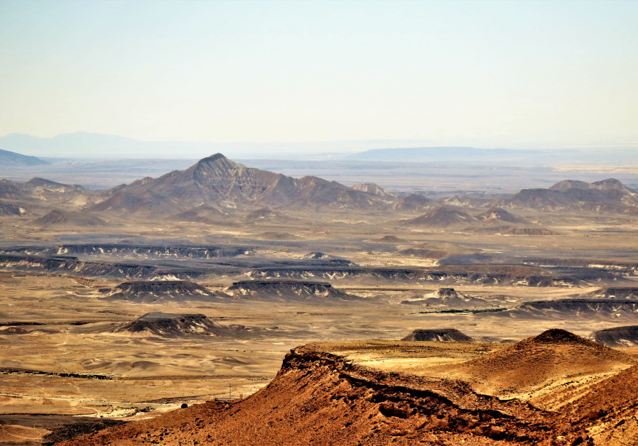 THE STARK, spectacular landscape typical of this part of north-eastern Sinai that looks almost like an alien planet. (Photo credit: Ori Lewis)