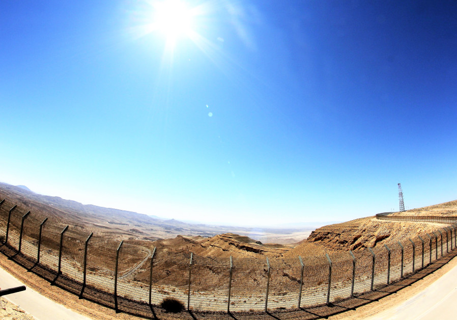 A WIDE-ANGLE view across the border looking at the wastes of Sinai. (Photo credit: Ori Lewis)