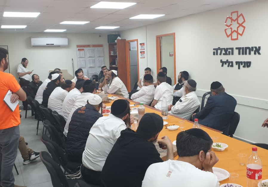 The Psychotrauma and Crisis Response Unit of United Hatzalah held debriefs and counseling sessions for all of its volunteers as well as first responders from other organizations who were present at the tragedy in Meron (Credit: United Hatzalah)