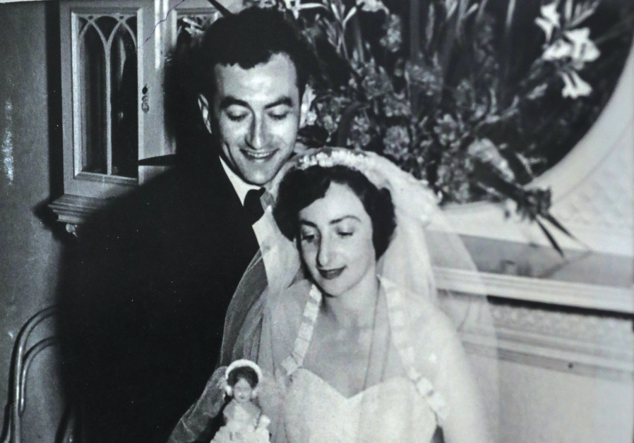 Dvora and her late husband, Harry, on their wedding day. (Photo credit: Courtesy)