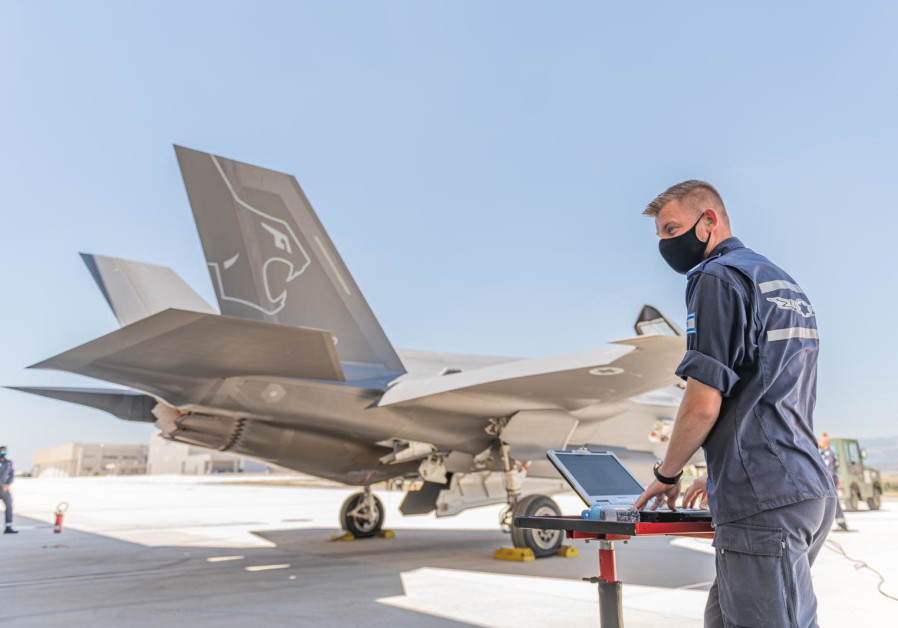 IDF F-35 deployed for large-scale drill in Italy, June, 2021 (Credit: IDF Spokesperson's Unit)