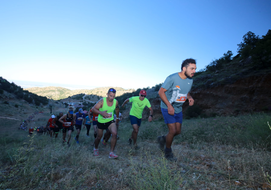 Steep incline in the Hermon Challenge race (Photo Credit: Tomer Feder).