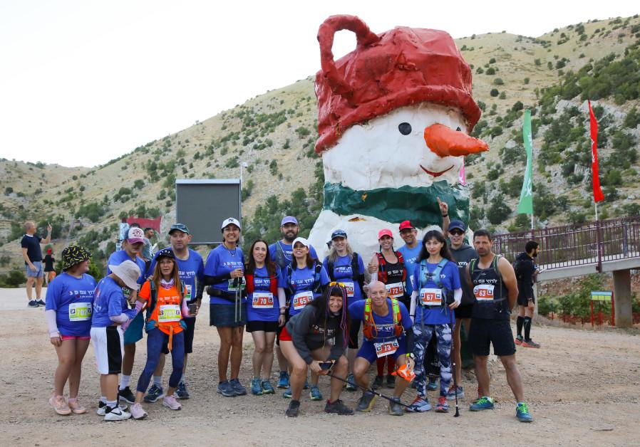 Hermon Challenge runners (Photo Credit: Tomer Feder).