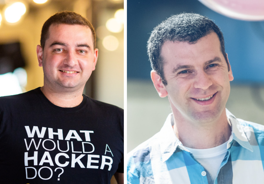 (L-R) Demi Ben-Ari, co-founder & CTO of security risk management company Panorays and Alon Vitan, director of people at OwnBackup. (Photo Credit: Anton Feelin/Buxa Photography)