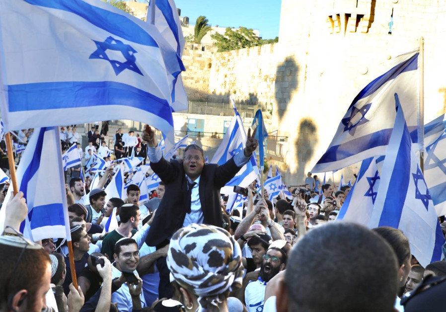Palestinians clashed with Israeli forces in Jerusalem, as Jewish groups conducted a flag march through the Old City (Photo Credit: MARC ISRAEL SELLEM)