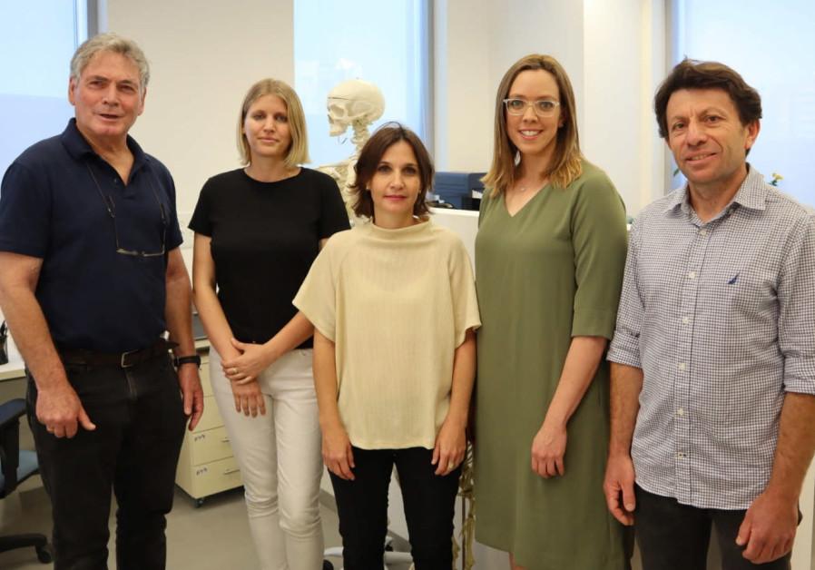 The Nesher Ramla research team (Left to Right): Israel Hershkovitz, Marion Prevost, Hila May, Rachel Sarig and Yossi Zaidner. (Photo credit: Tel Aviv University)