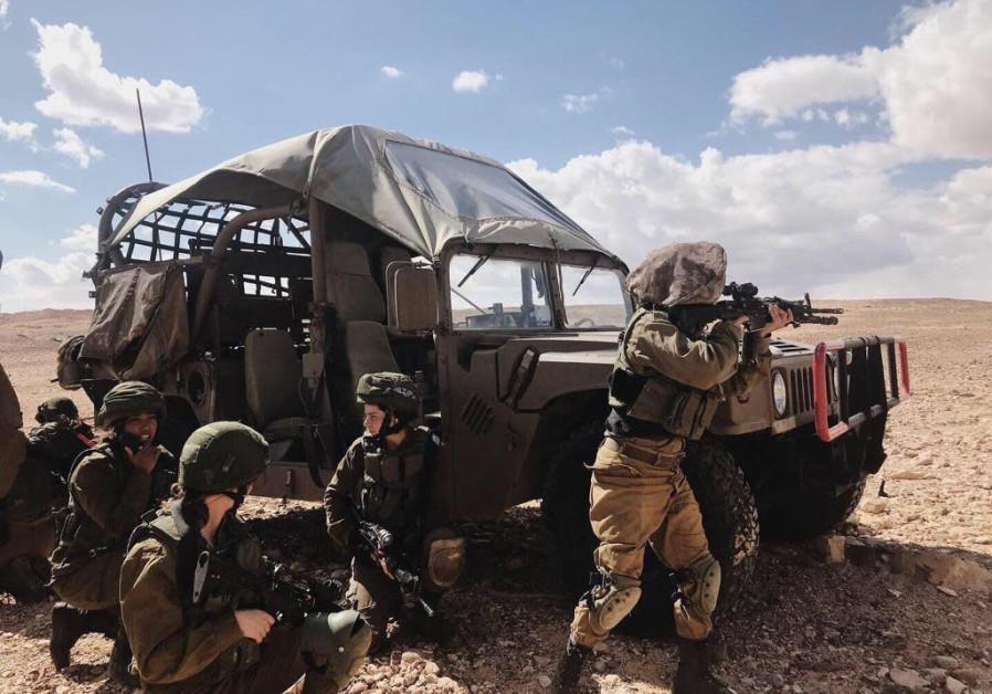 Defense forces on the Egyptian border (Credit: IDF Spokesman's Unit)