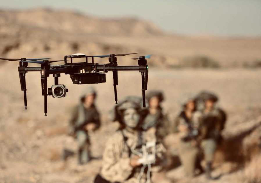 Drones are often used, both by smugglers and security forces (Credit: IDF Spokesman's Unit)