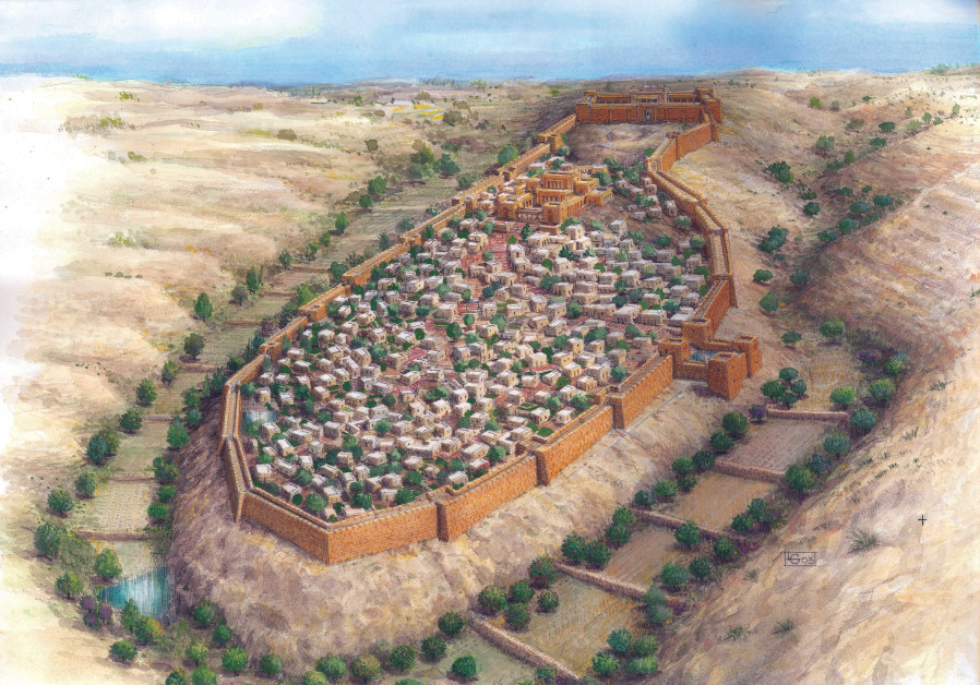 The walls of the city of Jerusalem in the days of the First Temple. (Credit: SHALOM KVELLER - COURTESY CITY OF DAVID ARCHIVES)