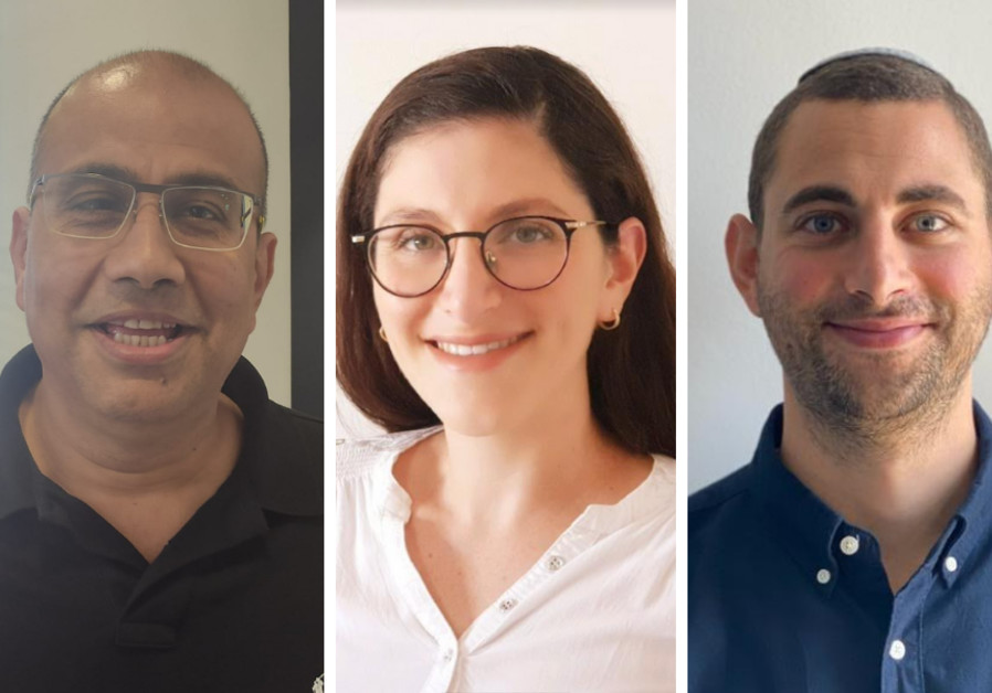 Caption: (L-R) Reuben Braham, Vice President of marketing at CyberInt; Shiran Bareli,  Global Security Research Manager at Imperva; Yonatan Israel Garzon, Cyber threat intelligence director at CyberInt. (Photo credit: Courtesy)